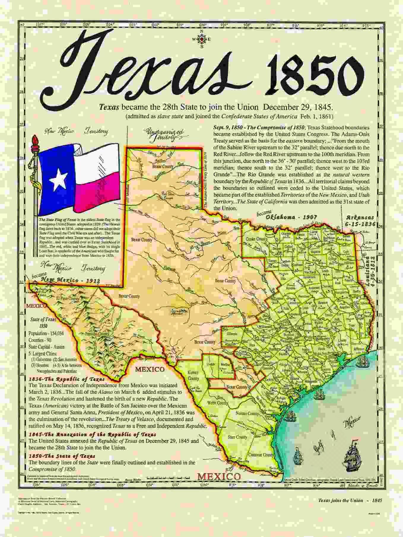 Historical Texas Maps, Texana Series | Texas History | Pinterest ...