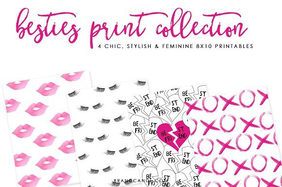 Feminine Valentine Print Collection  by Brand Candi on @creativemarket Check out our amazing line of fashion prints, quotes, scripture and other cute items perfect for printing out and framing!  Boutique owners, this set of prints would be perfect for your shop! Simply purchase a set using our extended license and print out as many prints as you wish and offer them for sale!