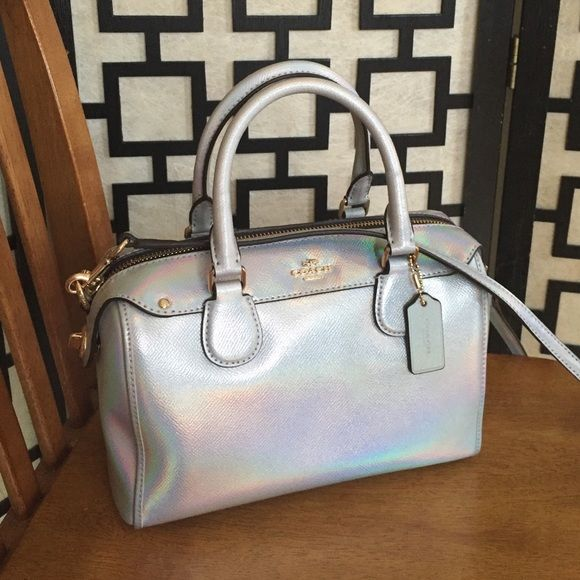 Coach Hologram Mini Bennett Satchel Brand New With Tags Limited Edition And Sold Out In
