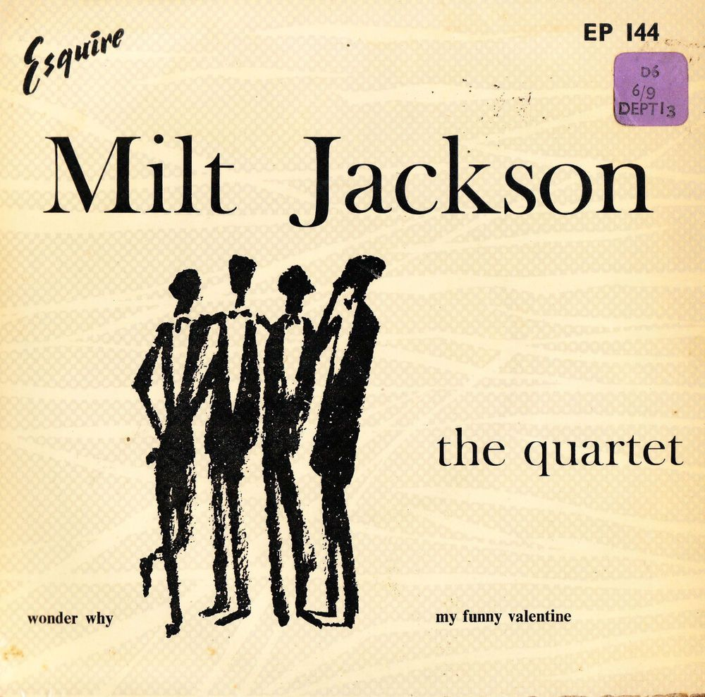 Milt Jackson The Quartet 1955 Uk Esquire Records 7 034 Vinyl Ep 144