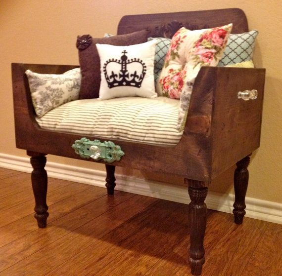 Delightful Distressed Luxury Pet Bed, Shabby Chic Pet Bed, Cat Bed, Dog Bed,