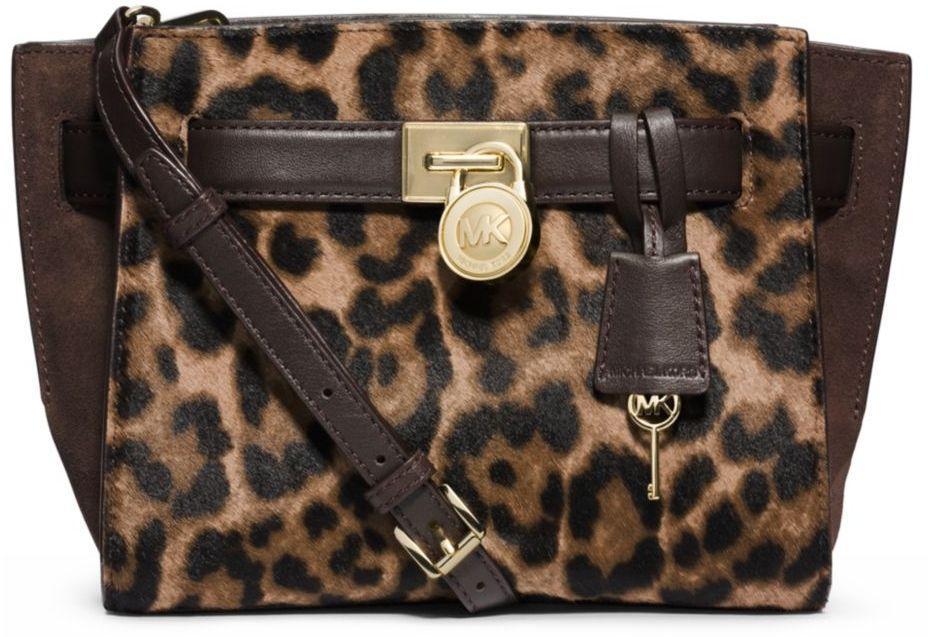 f69731f94014 MICHAEL MICHAEL KORS Hamilton Leather and Hair Calf Traveler Messenger Bag
