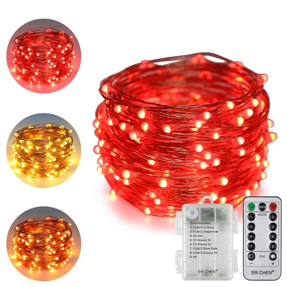 Battery Powered Dual Color Led String Lights 33ft 100 Leds