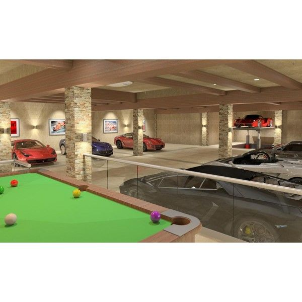 Scret Garge Luxury House: Private Luxury Garage Liked On Polyvore Featuring House