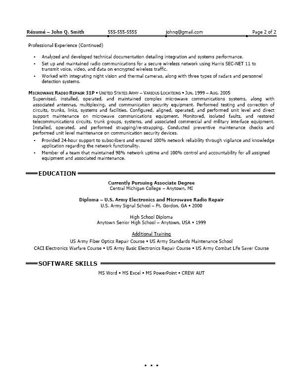 Web Services Testing Sample Resume -   wwwresumecareerinfo - radio repair sample resume