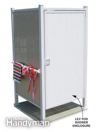DIY Outdoor Shower Privacy | Shower installation, Shower enclosure ...