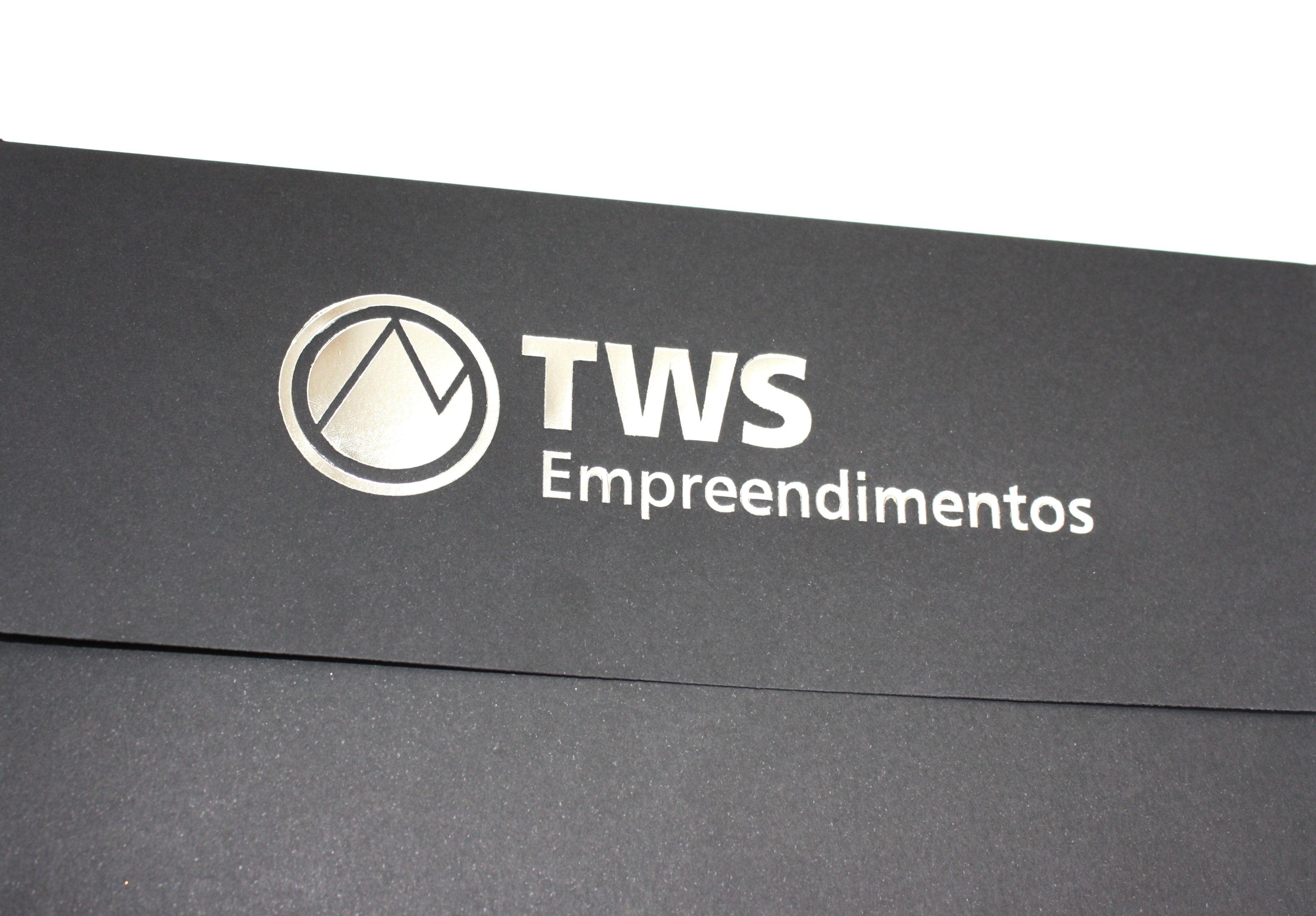 Convite corporativo para TWS Empreendimentos. #convite #invitation #corporativo #preto