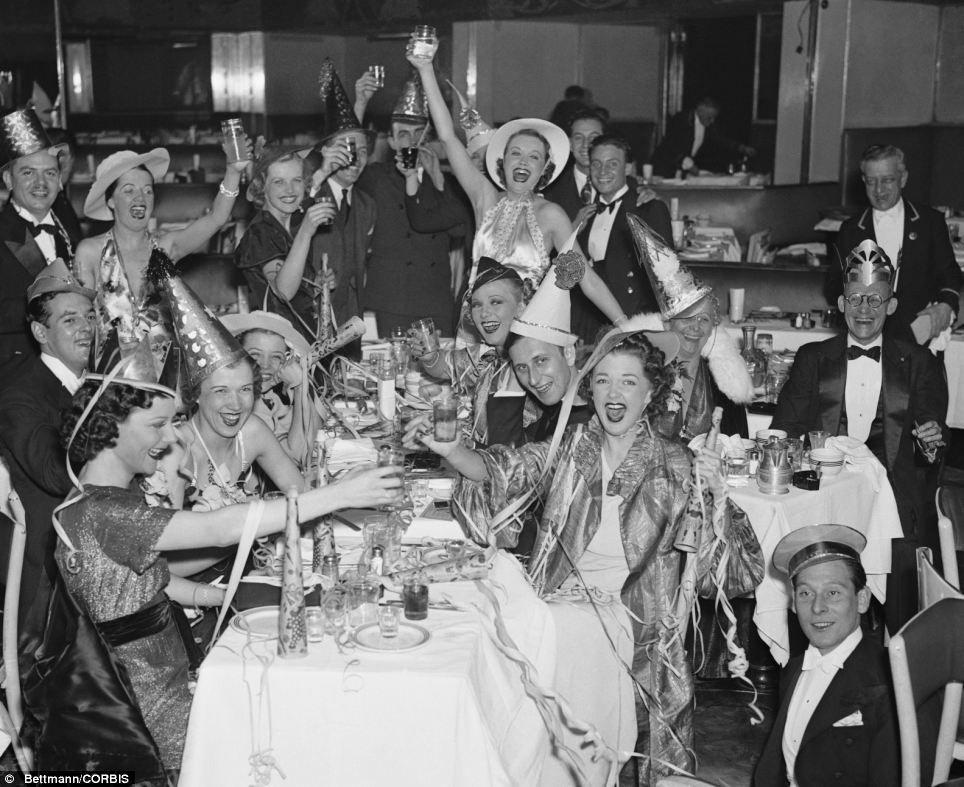Bettman,Corbis Vintage NYE Photograph New Year\u0027s Eve