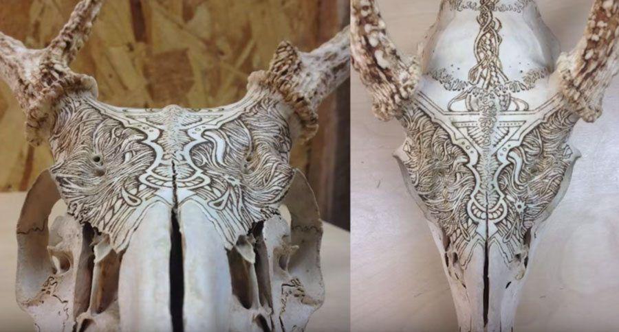 Skull Burning The hottest way to design a European skull