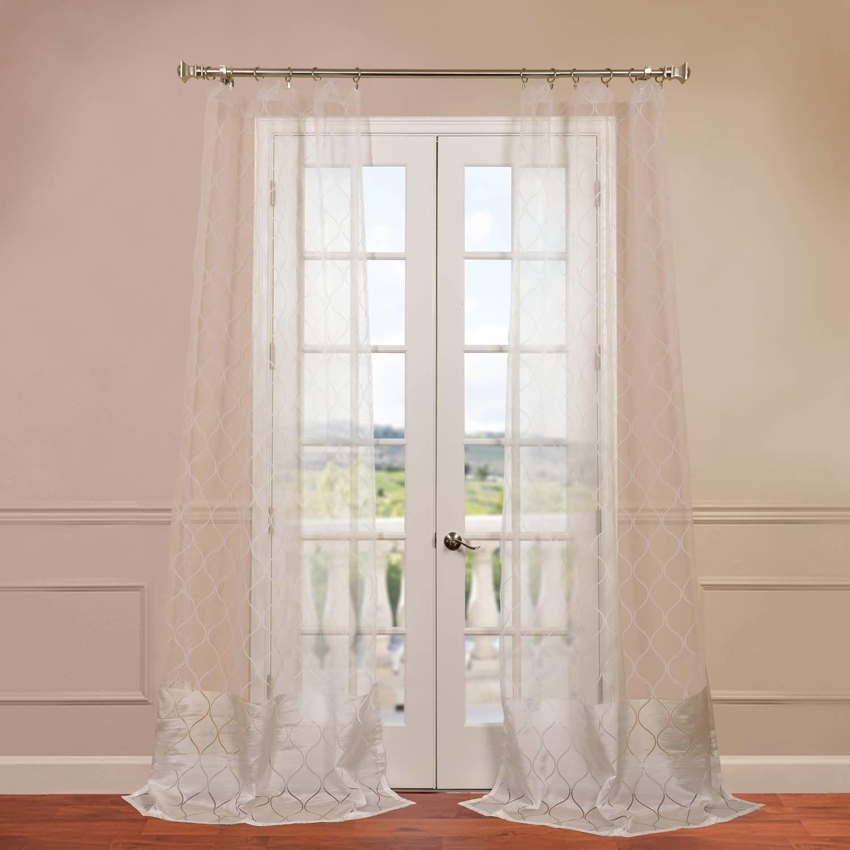 Palazzo Banded Sheer Single Curtain Panel Products