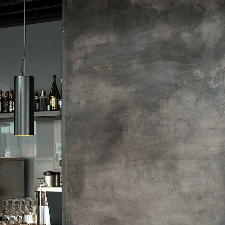 Beautiful Clay Plaster Finish In A Polished Concrete
