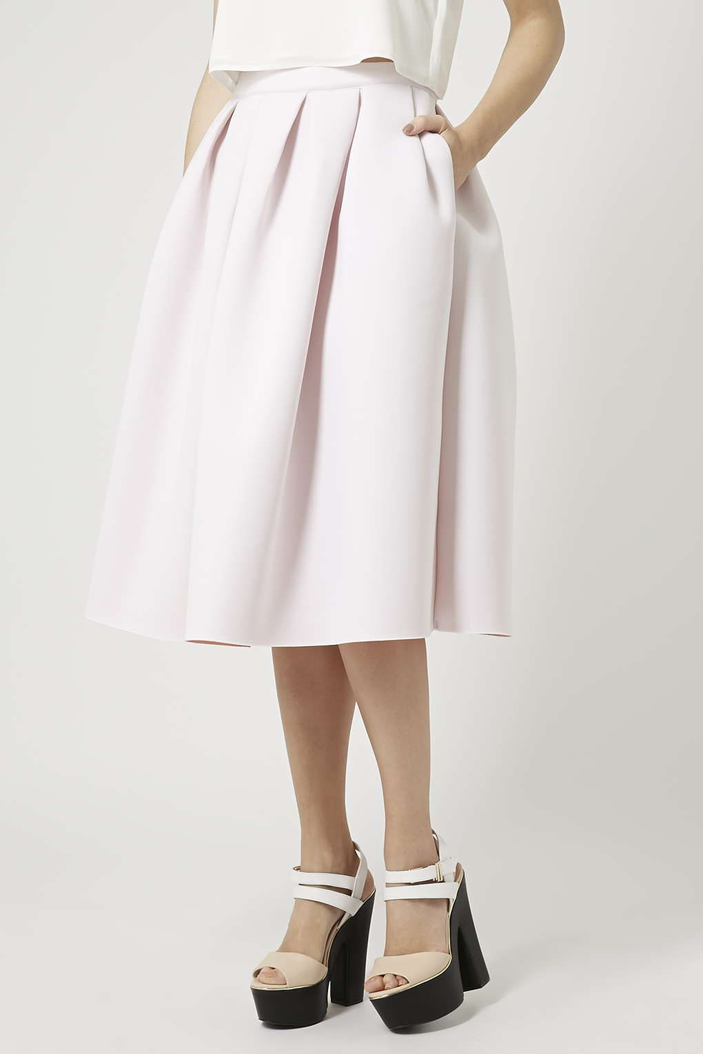 Jersey A-Line Midi Skirt - Skirts - Clothing | Pink, Shades and ...