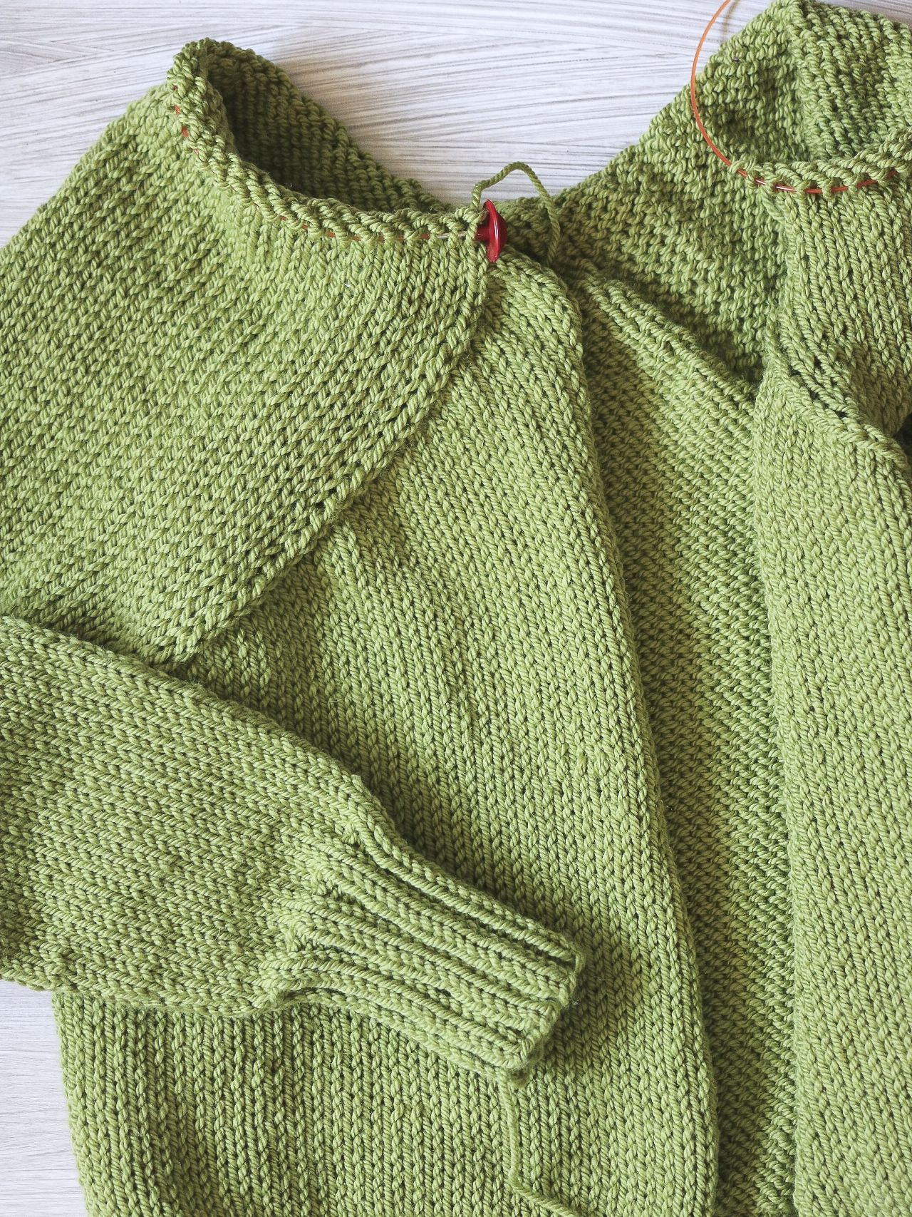 how to pick up stitches in knitting to make a border