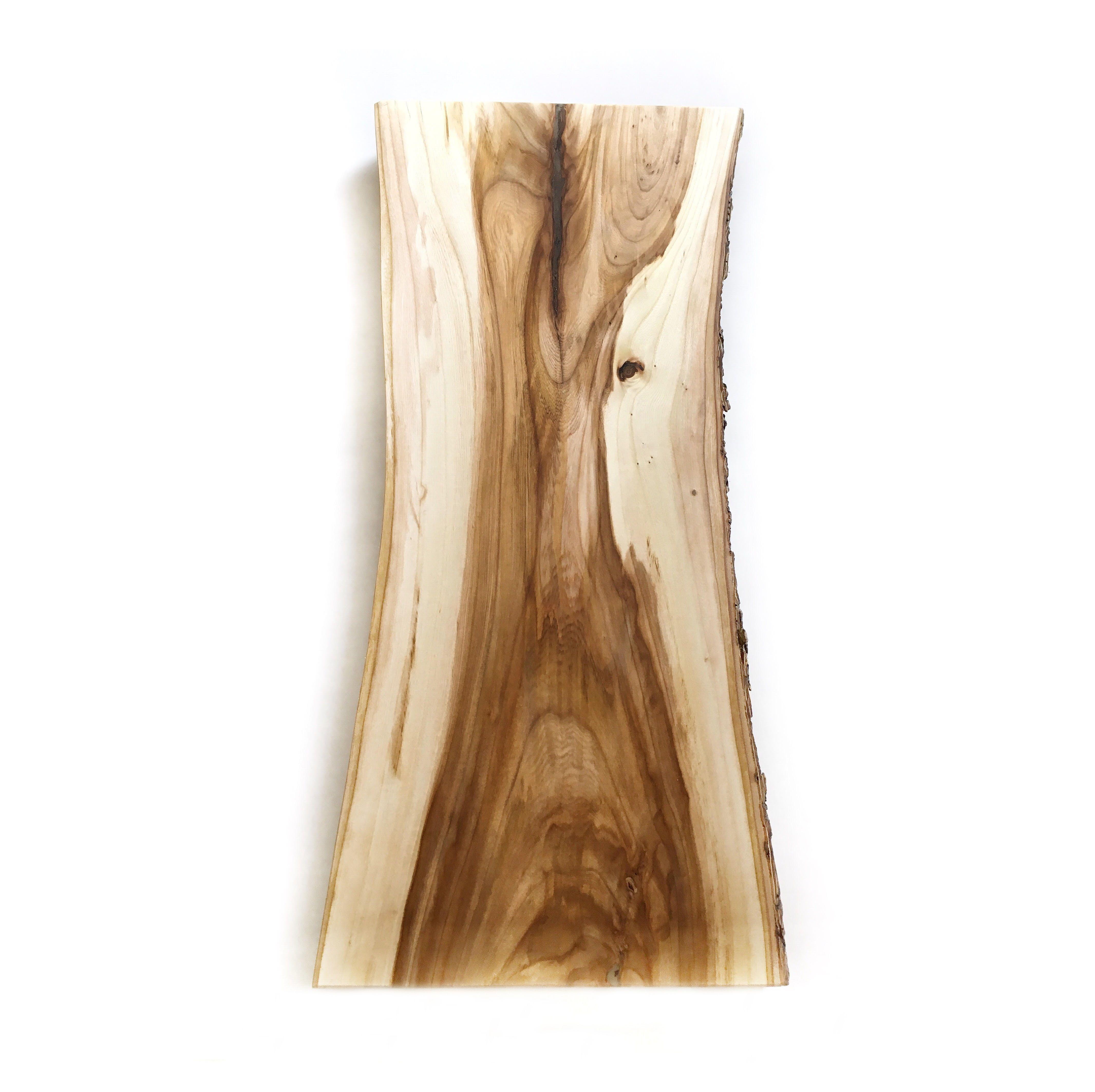 planche d couper rustique centre de table bois d 39 orme d 39 am rique avec corce cutting board. Black Bedroom Furniture Sets. Home Design Ideas