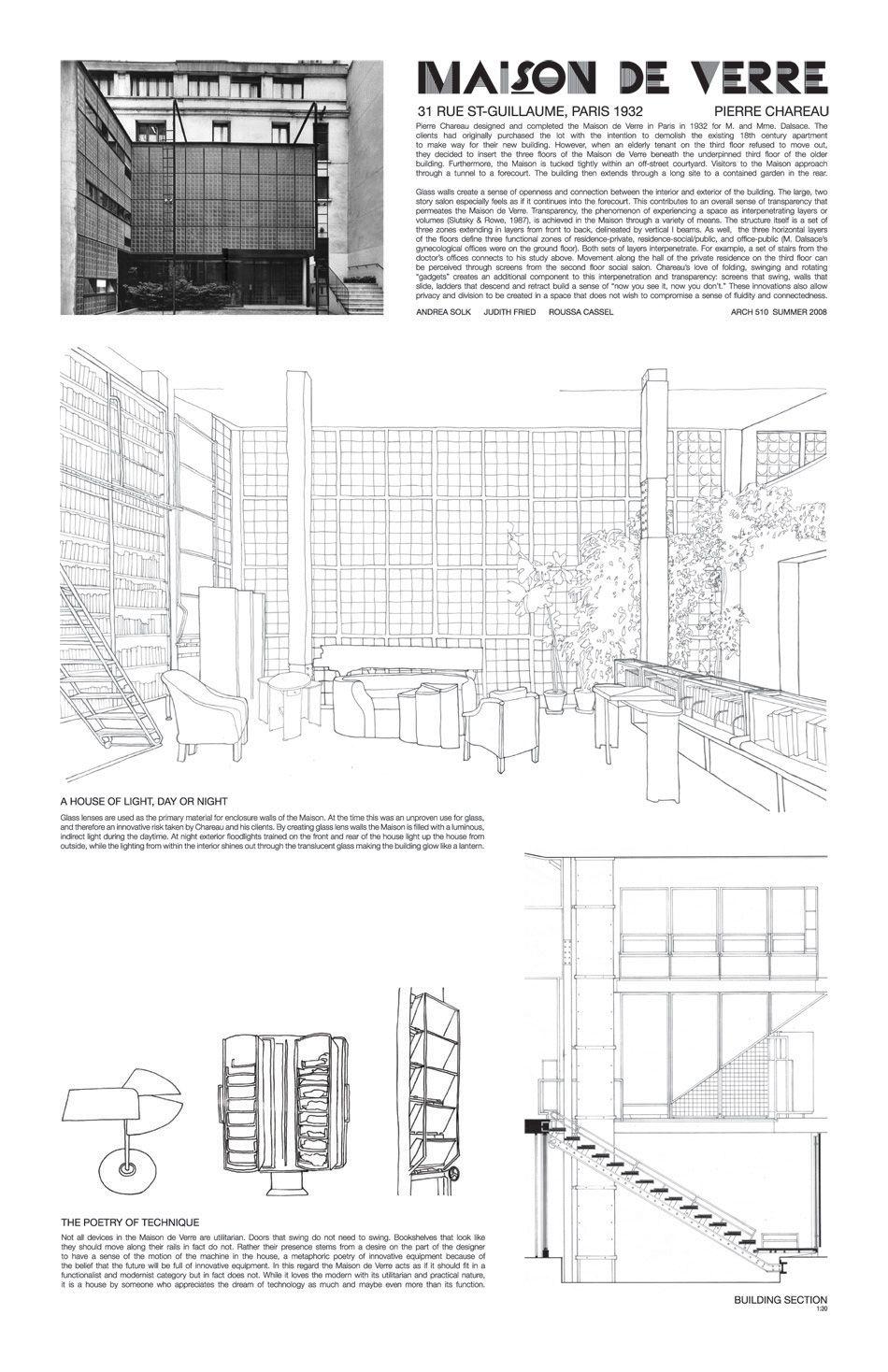 Maison de verre arch pierre chareau 1932