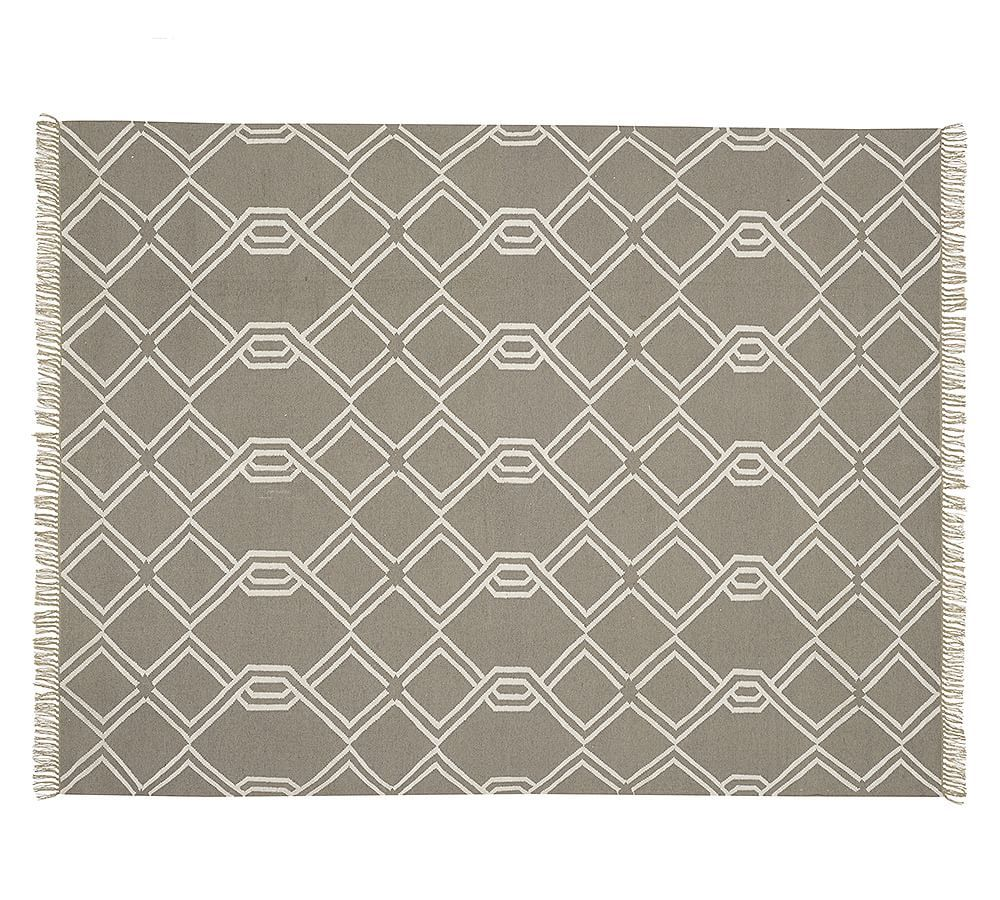 Diamond Cable Synthetic Indoor Outdoor Rug Gray Indoor