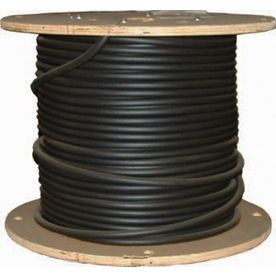 3 0 Awg Aluminum Stranded Black Xhhw Wire By The Roll 11276301