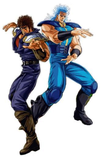 Ken and rei fist of the north star cool manga anime old