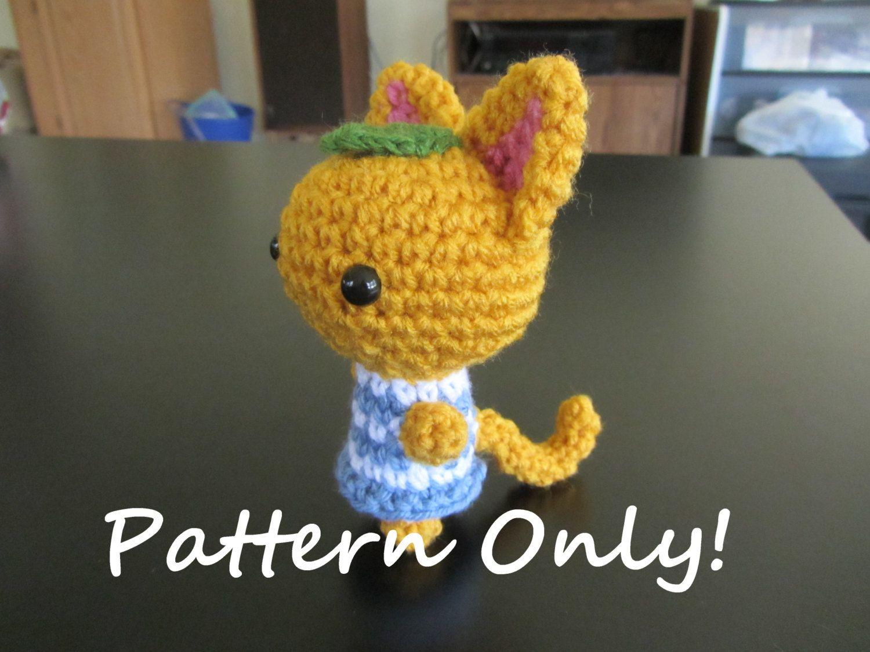Pattern Crochet Animal Crossing Cat Villager Tangy Amigurumi