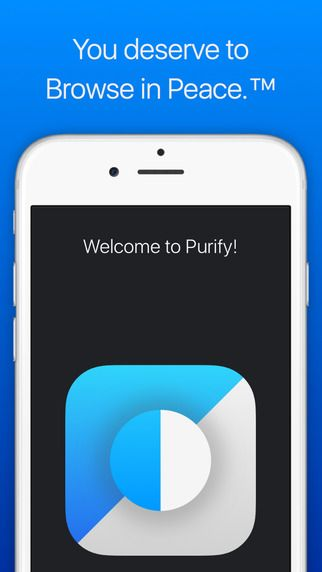 Purify Blocker: No Ads. No Tracking. Lightning-Fast Browsing in Safari. by Chris Aljoudi