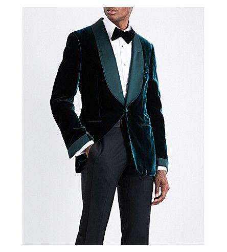 d09fc135e105 TOM FORD Shelton regular-fit velvet jacket.  tomford  cloth