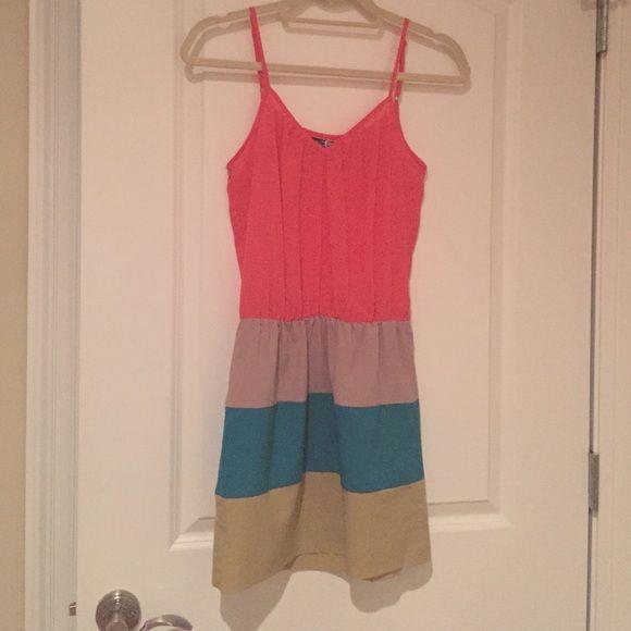 Boutique brand dress Coral top. Color block bottom Dresses Mini