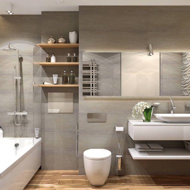 Beton und Holz Haus Pinterest Interiors, Bathroom designs and