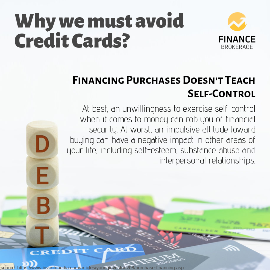 "Financing Purchases Doesn't Teach Self-Control"""" Is One Of"