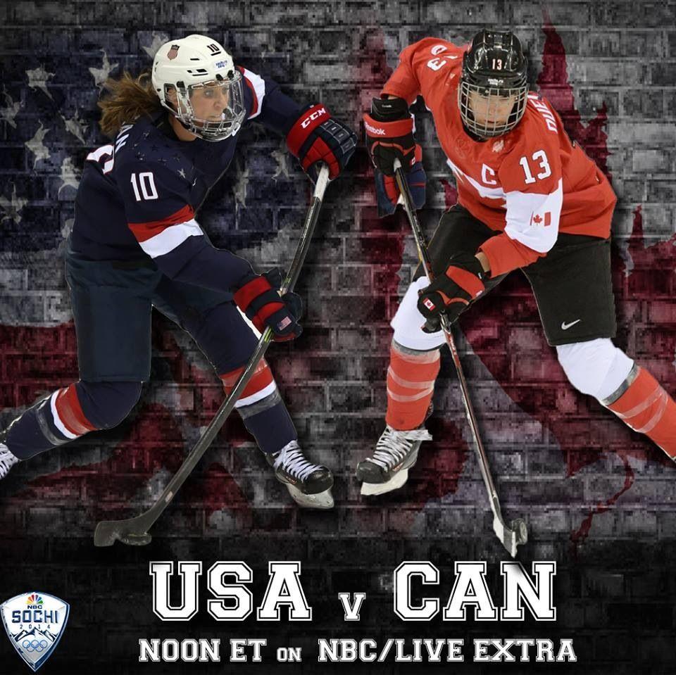 Usa Vs  Canada Olympic Hockey