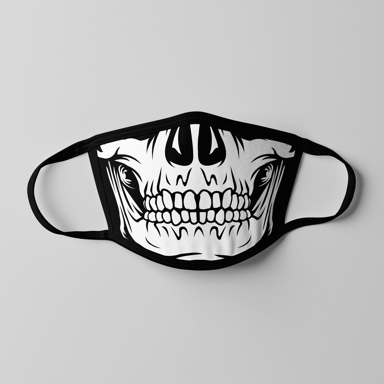 Skull Face Mask Svg Skull Mask Skeleton Mask Funny Face Mask Design Cricut File Digital Download Skeleton Mask Funny Face Mask Skull Mask
