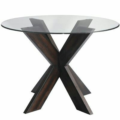 Small spaces.  Glass topped dining table.  Does it give you more visual space?
