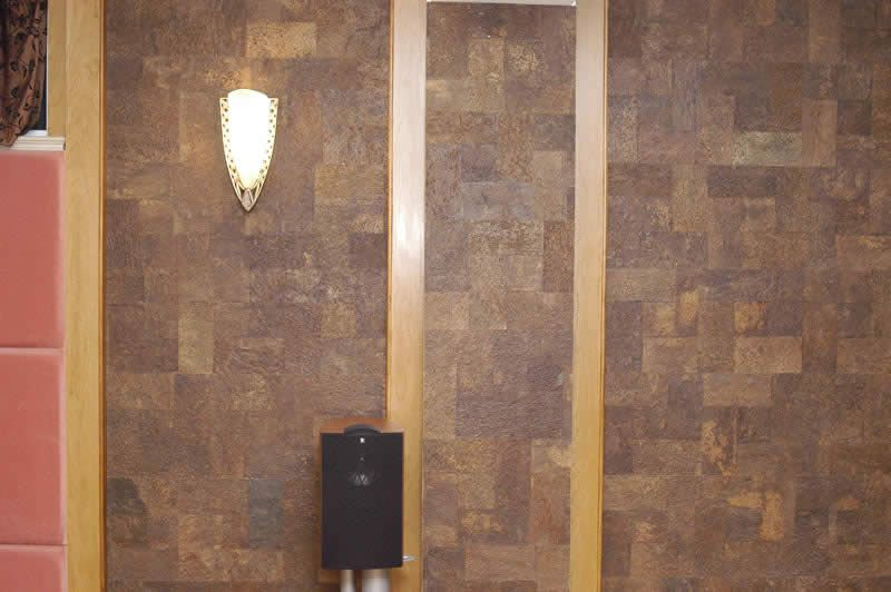 Orgbrick wall tile makes a serious wall statement without for Cork flooring on walls