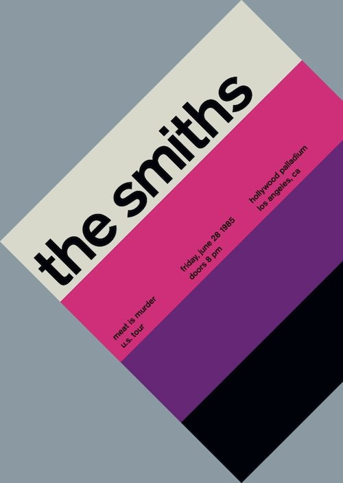 Rock & Roll + Swiss Modernism love the smiths love Morrissey!