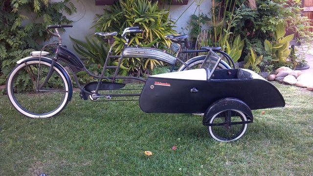 Tandem And Sidecar Tandem Bike Bicycle Sidecar Sidecar