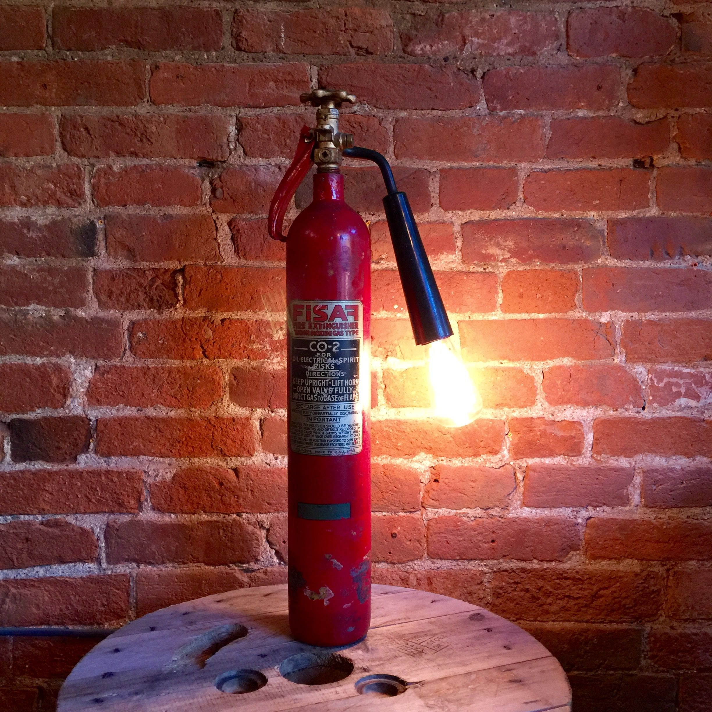 Upcycled 1980's Fisaf Fire Extinguisher http//www