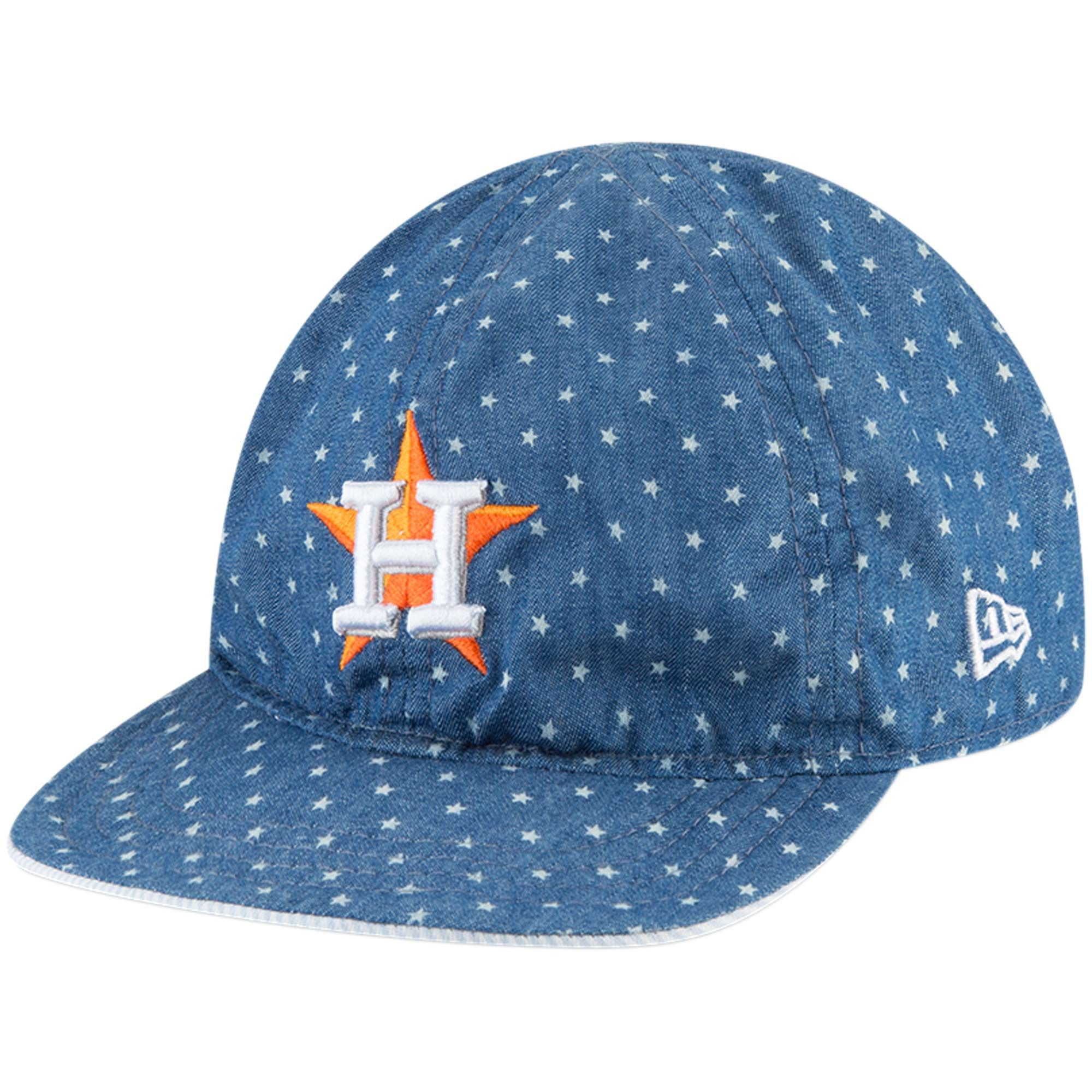 63894c2470c Houston Astros New Era Toddler Denim Flip 9TWENTY Adjustable Hat – Light  Blue