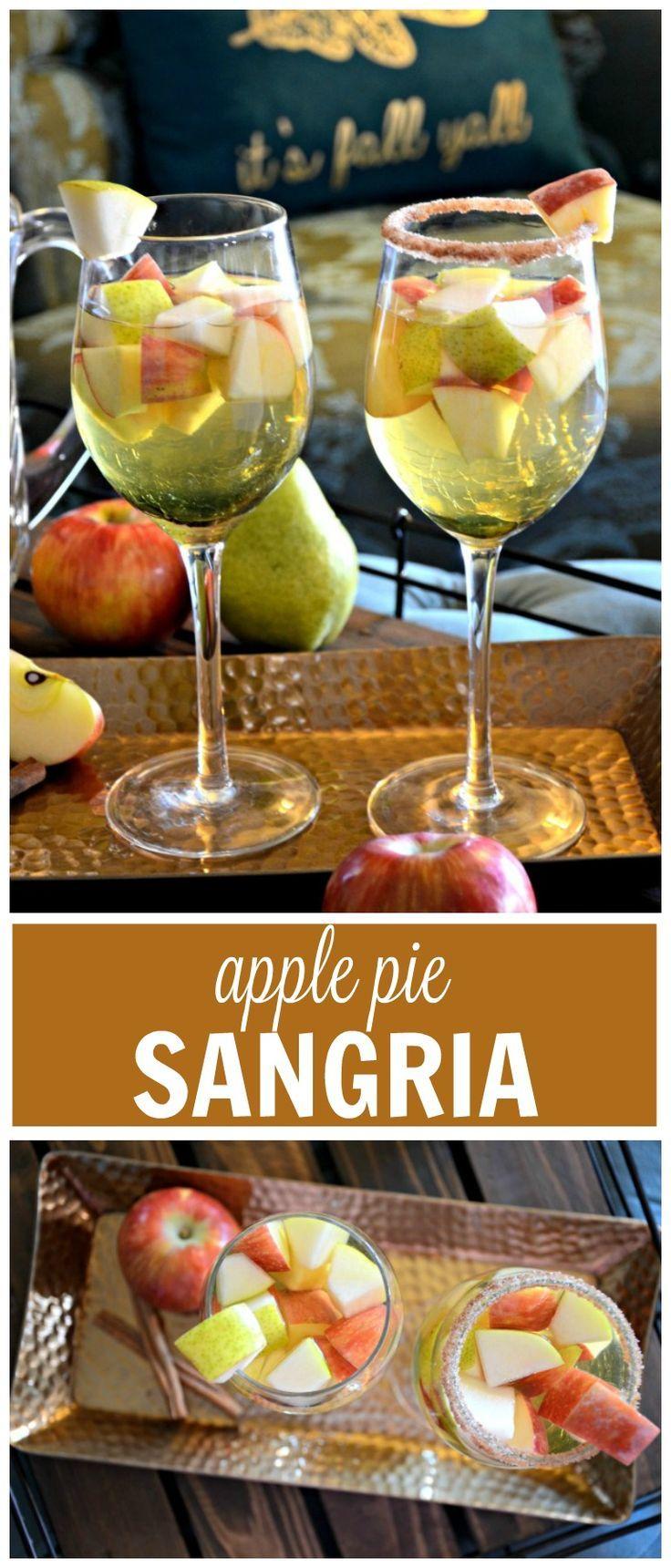 Medium Of Apple Pie Sangria