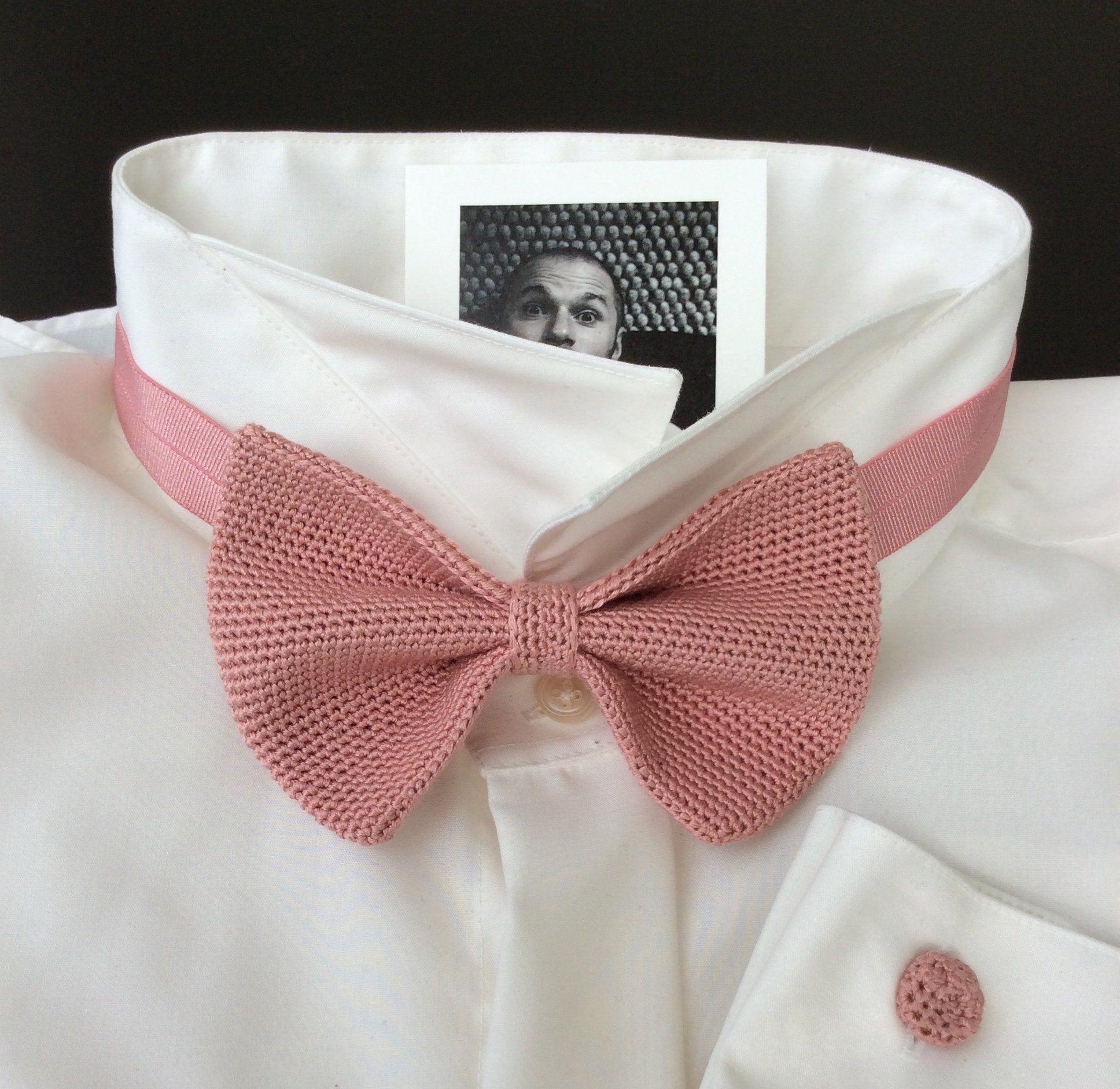 Strickfliege Fliege Hochzeitsfliege 100 Seide Rosenholz Bows Silk Pink