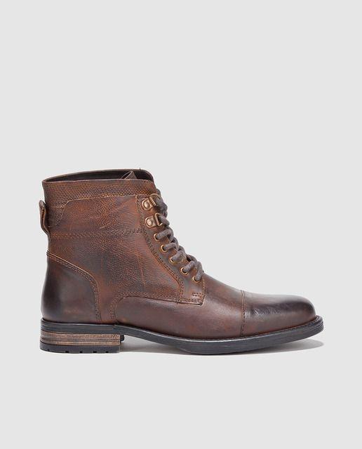 nuevo concepto 0c1fb d618e Botas de hombre Fórmula Joven de piel marrones | zapatos en ...