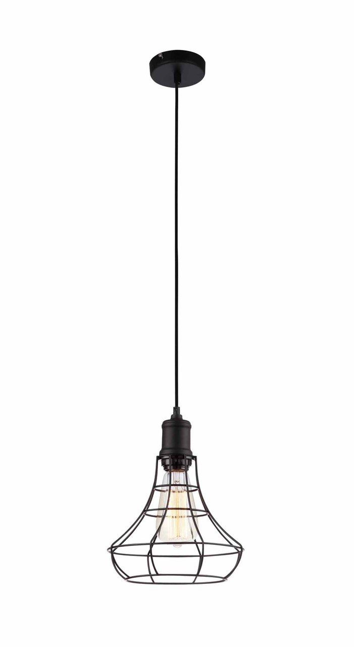 Nostalgic industrial black wide cage pendant light pendant