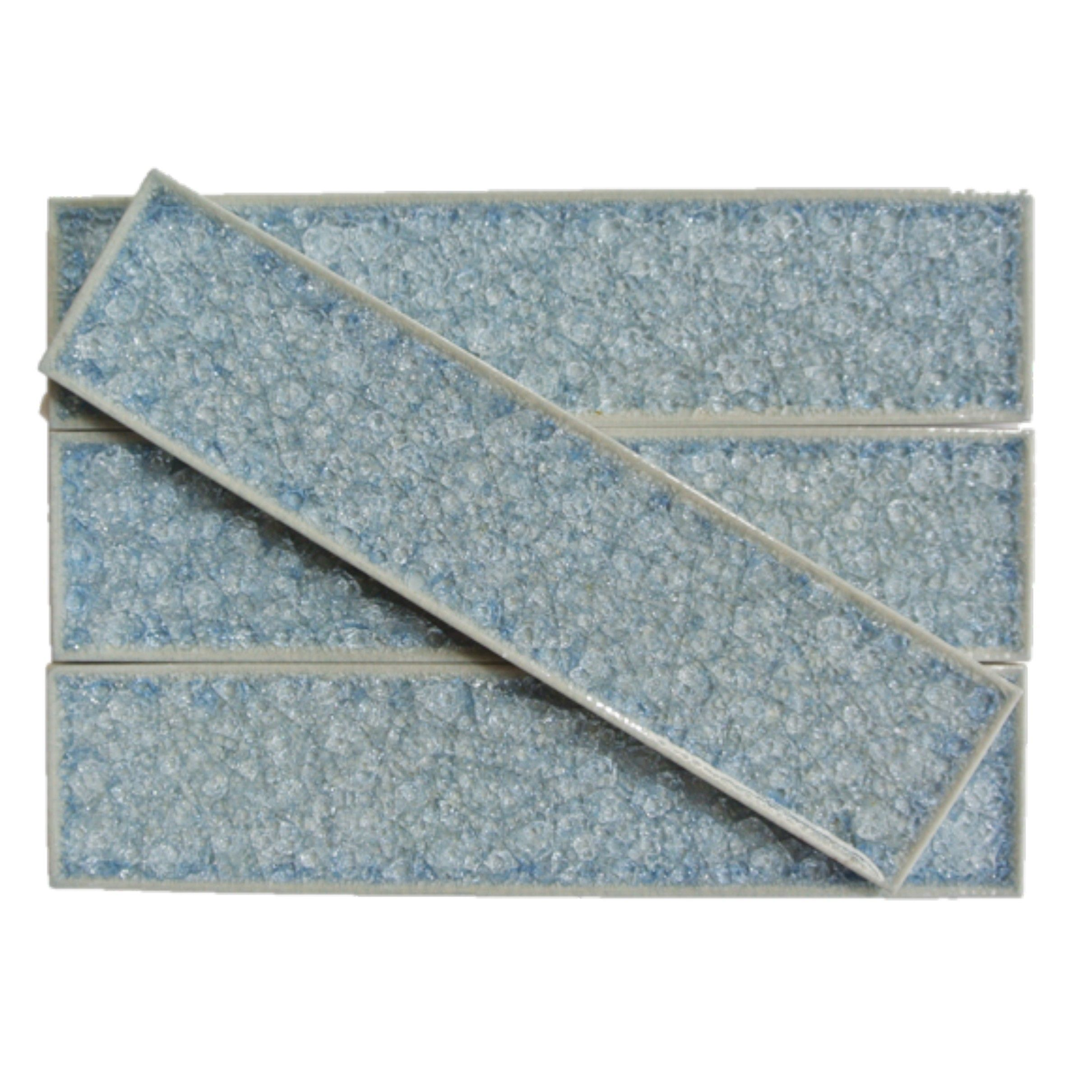 Roman Collection Brisk Blue 2x8 Glass Tile | Tile We Love ...