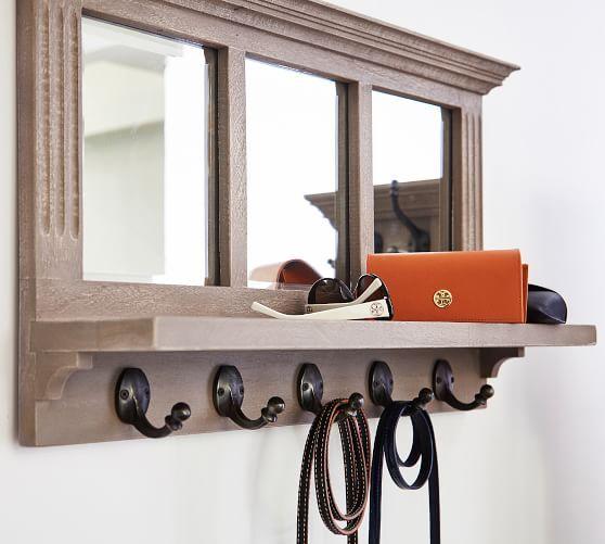 Livingston Entryway Mirror With Hooks Organization