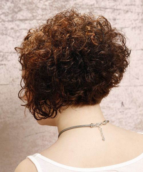 View And Try On This Short Curly Formal Hairstyle Dark Brunette Auburn Hair Color