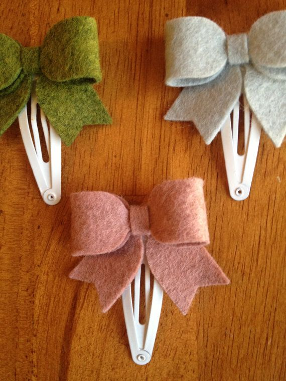 15 OFF Toddler Felt Bow Hair Clips toddler by AddiPaigeBowtique