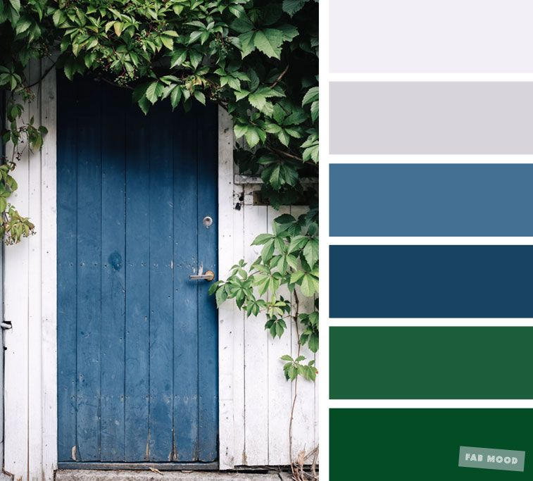 Blue Grey And Green Color Combination Dusty Blue Color Palette