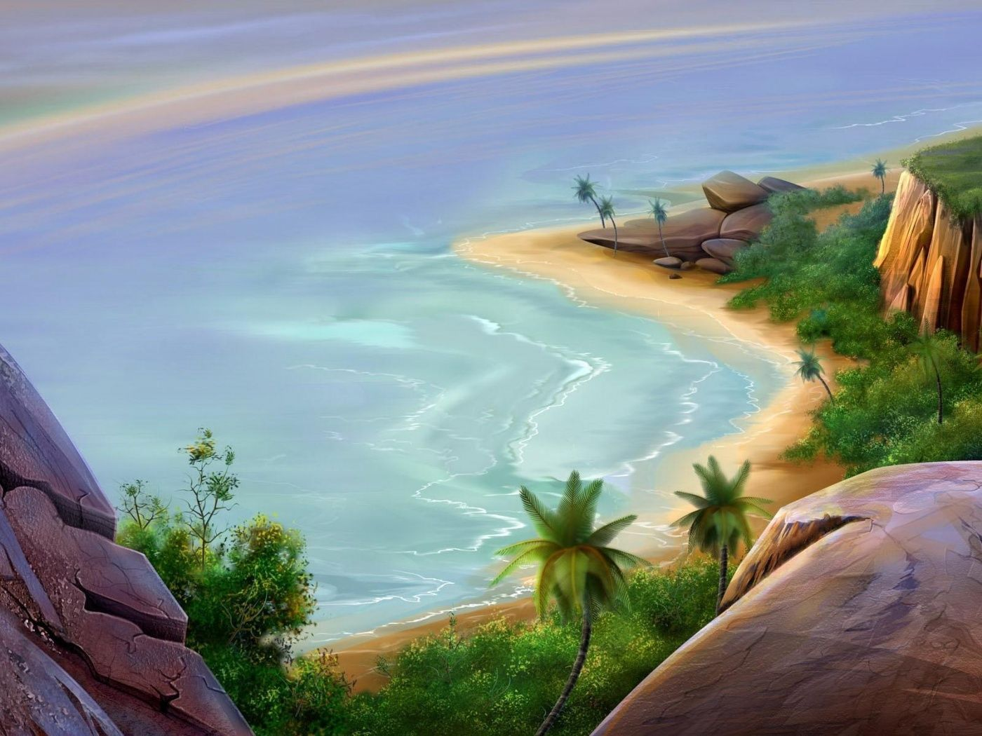3D Island Wallpaper