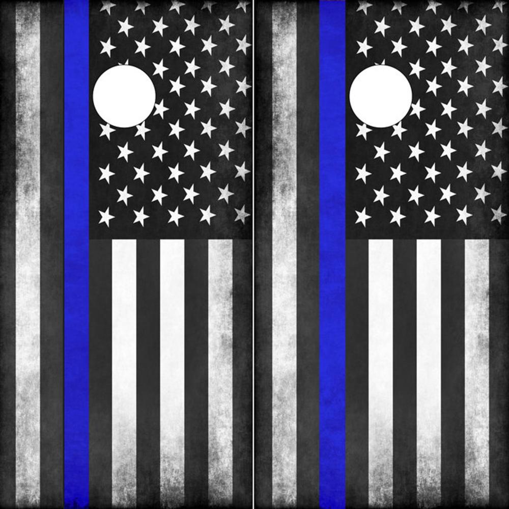 Cornhole Wraps Police Flag Thin Blue Line American Flag Decal Etsy American Flag Decal Cornhole Wraps Flag Decal