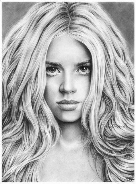 Dibujos a lapiz de caras  Imagui  Rostros a lapiz  Pinterest