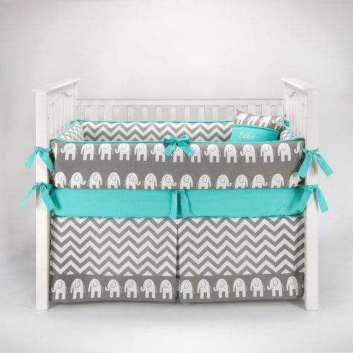 Elephant Chevron Zig Zag Gray & Teal Baby Bedding - 5pc Crib Set by Sofia Bedding Sofia Bedding http://smile.amazon.com/dp/B00IZPEG2A/ref=cm_sw_r_pi_dp_qcA3tb184WNYNH9N