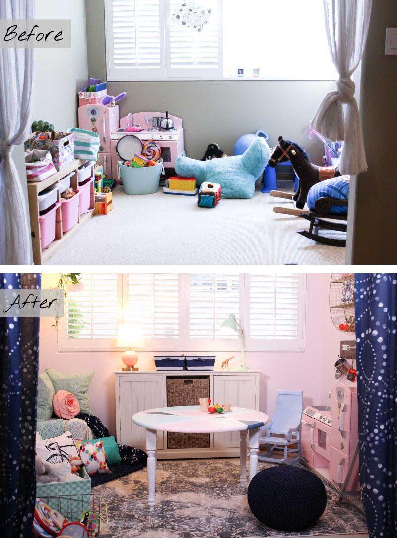 Decorates: Pink \u0026 Powerful Playroom Makeover | Playrooms ...
